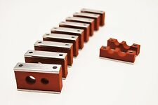 """Hydraulic pipe clamp clip - Twin 3/8"""" & 1/2"""" ( 10mm & 12mm ) Pk.10 Hose Tube"""