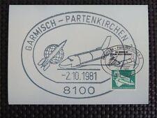 BUND MK 1981 850 SPACE SHUTTLE LAB WELTRAUM MAXIMUMKARTE MAXIMUM CARD MC c5145