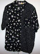 Bechamel Black,White & Green Floral Daisys /Polka Dots 3/4 Sleeve  Size L