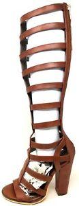 Michael Antonio Women's Krissy Dress Sandal Cognac Brown Size 5.5 M US