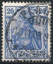 """Germania MiNr. 72a mit Prüfzeichen """"a"""" gestempelt in PLAUEN am 10.11.03"""