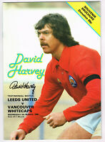 PROOF DAVID HARVEY SIGNED TESTIMONIAL PROGRAMME LEEDS UNITED COA AUTOGRAPH UTD 6