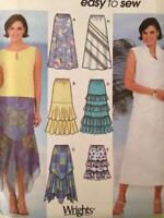 Simplicity Sewing Pattern 7227 Ladies Misses Tiered Flared Skirts Size 12-18 UC