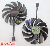 1pcs For Gigabyte GTX1060 GTX1070 Cooling fan T129215SU Φ87mm