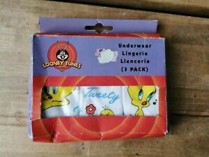 Looney Tunes Tweety Pie Tweety Bird Girls Underwear Knickers x 3 1-2 years NEW
