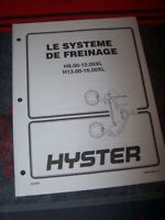 BI Manuel Hyster Systeme de freinage H8.00-12.00XL H13.00-16.00XL