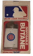 Vintage Chicago Cubs MLB Gas Lite Storm King Lighter Disposable Butane USA Made