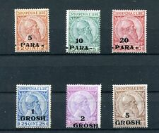 1914. ALBANIA.YVERT 38/42*. NUEVOS CON FIJASELLOS. (MH). CAT.42€
