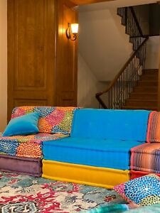 Tufted Mah Jong sofas Custom Designer French Sectional Modular Daybed Sofa Couch