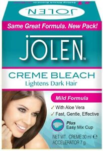 Jolen Mild Facial Bleach Lightens Dark Hair 30 ml