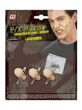 Latexapplikation 3x Horror Piercing Karneval Halloween