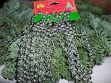 Perlenband silber  Perlenkette Kette Weihnachtsbaum  Weihnachtsbaumkette 275cm