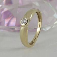 Ringe mit P1 Reinheit solitäre Echtschmuck aus Gelbgold für Damen
