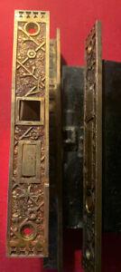 Three Vintage BRASS 1878 & 1885 Sargent Door Locks & 1 Door Strike