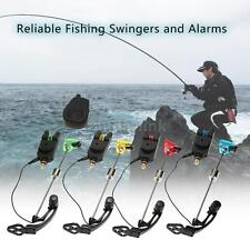 Wireless Fishing Bite Alarms Receiver + 4 Alarms For Carp W Illuminated AL N2I5