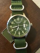 Filson / Shinola New Mackinaw Field Watch 43mm Green and silver face