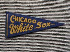 >orig. 1940's-50's CHICAGO WHITE SOX mini  **Vintage Baseball Pennant**