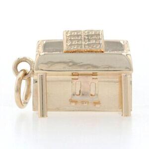Oro Amarillo Vertical Piano Charm - 14k Música Pianist's Regalo Grabado