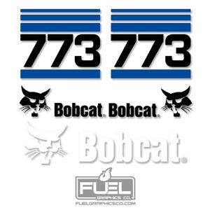 Bobcat 773 Skid Steer Loader Premium Vinyl Decal Kit - Equipment Graphics