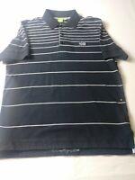 Hugo Boss Mens Shirt Size L Black Striped Short Sleeve Paddy Polo Modern Fit