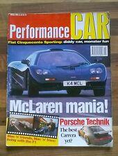 Performance Car March 1995: McLaren F1, Technik Porsche 911, Renault Alpine GTA