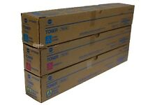 TN319 CMY Genuine Konica Minolta Toner Color Set ,Lot of 3, For C360 C