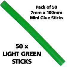 50 x 7mm LIGHT GREEN Colour Hot Melt Glue Gun Sticks Adhesive for Hobby Craft