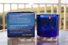 Iittala Marimekko Kivi tealight holder - ultramarine blue - 100 year anniversary