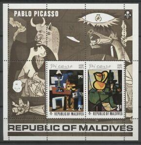 "No: 63096 - MALDIVES - ""PICASSO"" - AN OLD BLOCK - MNH!!"