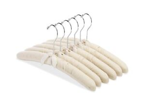 Whitmor Canvas Padded Hangers (Set of 6) CANVAS PADDED HANGERS S/6