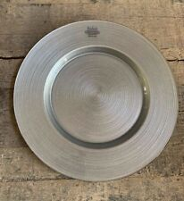 Badash - Arianna Glass Decorative Serving Charger Plate, Silver