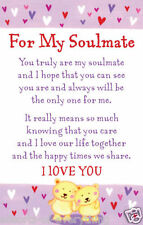 For My Soulmate Heartwarmers Keepsake Credit Card & Envelope Gift
