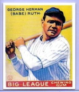 Bébé Ruth 1933 Goudey Jaune Carte Rookie #53 Réédition Yankees