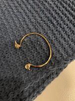 Rachel Zoe Safari Horn Cuff Gold/white Excellent Condition