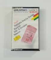 Verdi Highlights From La Traviata Cassette Walkman Classics Deutsche Grammophon
