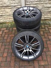 """Genuine BMW 18"""" MV3 193M M SPORT Wheels E90 E92 E93 Z4 E46 F30 F10 FERRIC GREY"""