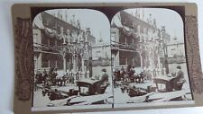 ANTIQUE GEORGE ROSE STEREO CARD PHOTOGRAPH CORONATION OF KING EDWARD VII