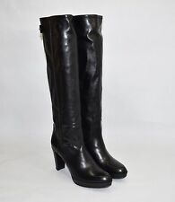 Stuart Weitzman 'Gentry' Almond Toe Platform Boot Black Leather Size 10 M $745