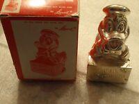 Vintage 1960's Walt Disney DONALD DUCK Silver Plated Metal Bank Leonard W BOX!