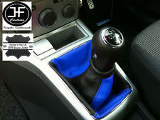 BLACK BLUE FITS OPEL VAUXHALL ASTRA H MK5 MKV STICK GEAR GAITER LEATHER