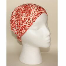 River Island Red Cream Flowers Stretchy Cotton Headband Hairband Wide or Slim