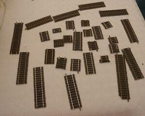 28  binari  diritti   Fleischmann per  impianto  scala HO