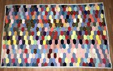 Vintage Handmade Patchwork Quilt Blanket Full Size Boho Multi Color Bed Spread