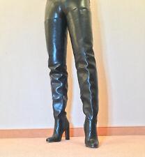 Gr.43 TOP ! Exklusiv Sexy Damen Schuhe Overknee Stiletto Stiefel Männer Boots C6