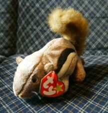 TY Original Beanie Babies Baby Chipper the Chipmunk Squirrel Soft Toy China