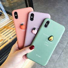 For i Phone 11 Pro Max X XR XS 8 7 6s Plus Lovely Cute 3D Fruit Soft Phone Case
