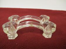 lot 2 Vintage  Clear Glass Kitchen cabinet or Drawer Pulls