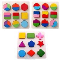 Holz Puzzle Geometrie Steckspiel Lernspielzeug Motorikwürfel für Montessori Lern