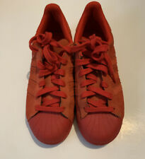 """Adidas  Shoes Size 5 """"Superstar"""" Red Suede Pre-owned RB2"""
