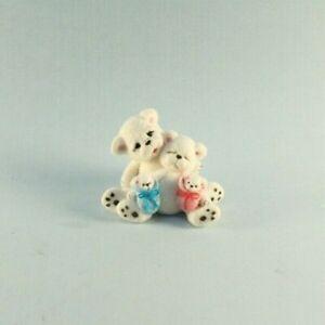 OOAK~Polar Bear~Babies~Miniature~Clay~Art~Artist Doll~Toy~Dollhouse~Cheryl Brown
